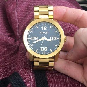 Nixon Gold Men's Watch CORPORAL 48mm